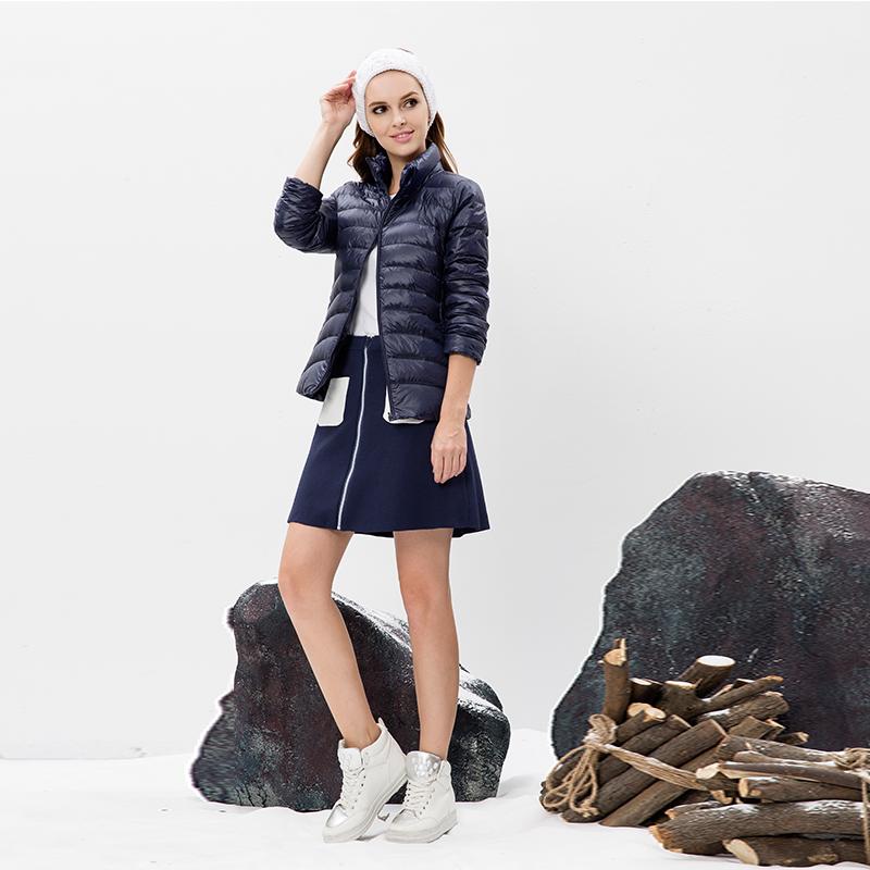 迪欧达女士轻薄鹅绒服DX5102·藏青色可备注选玫红160-170,黑色170-175