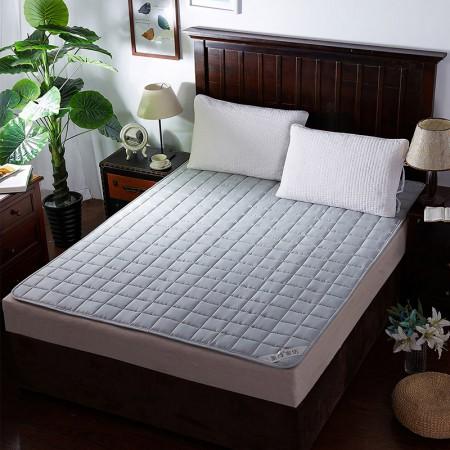 莱薇 可水洗床褥床垫加厚席梦思保护垫(灰色)150*200cm·灰色