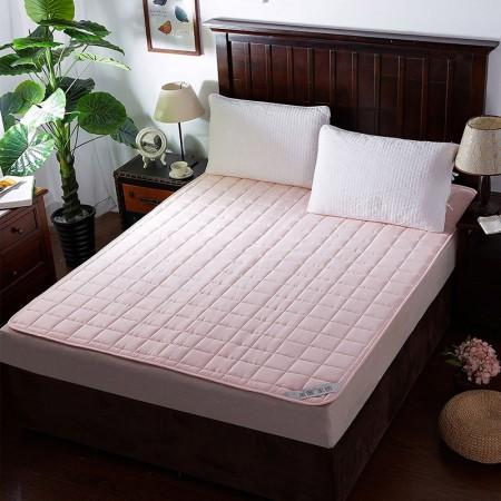莱薇 可水洗床褥床垫加厚席梦思保护垫(粉色) 180*200cm·粉色