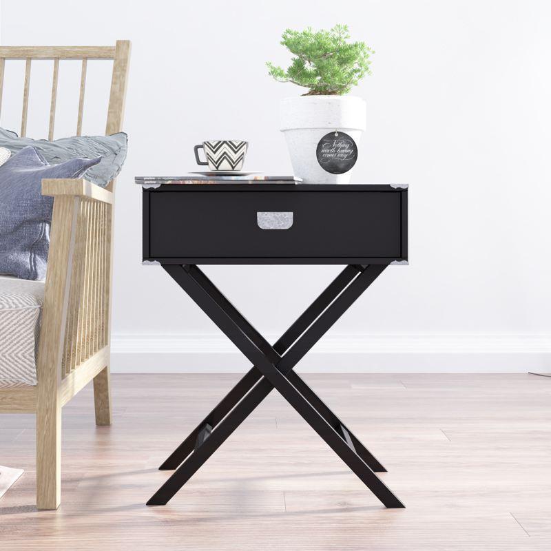 慧乐家艾克妮单抽边桌(黑色)11377·黑色