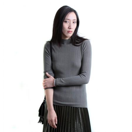SSYAOGE 羊毛针织打底衫毛衣花边领1715·咸菜绿