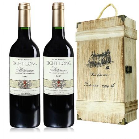 法国进口红酒 巴龙波尔多干红葡萄酒·750ml*2·酒红色