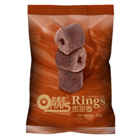泰国进口 欧曼思甜甜圈45g*6袋·巧克力味