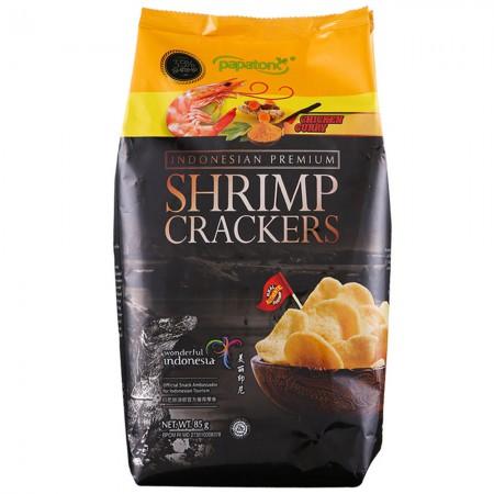 印尼进口 啪啪通虾片85g*5袋·咖喱鸡味