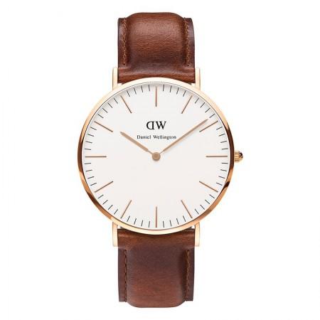 丹尼尔惠灵顿(Daniel Wellington)手表DW男表40mm金色边皮带