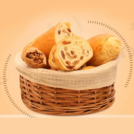 正宗新疆果仁大列巴早餐面包-清真认证·700g*2个·黄色