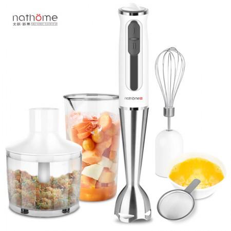 北欧欧慕(nathome) 料理棒手持搅拌机电协婴儿辅食料理机 天使白