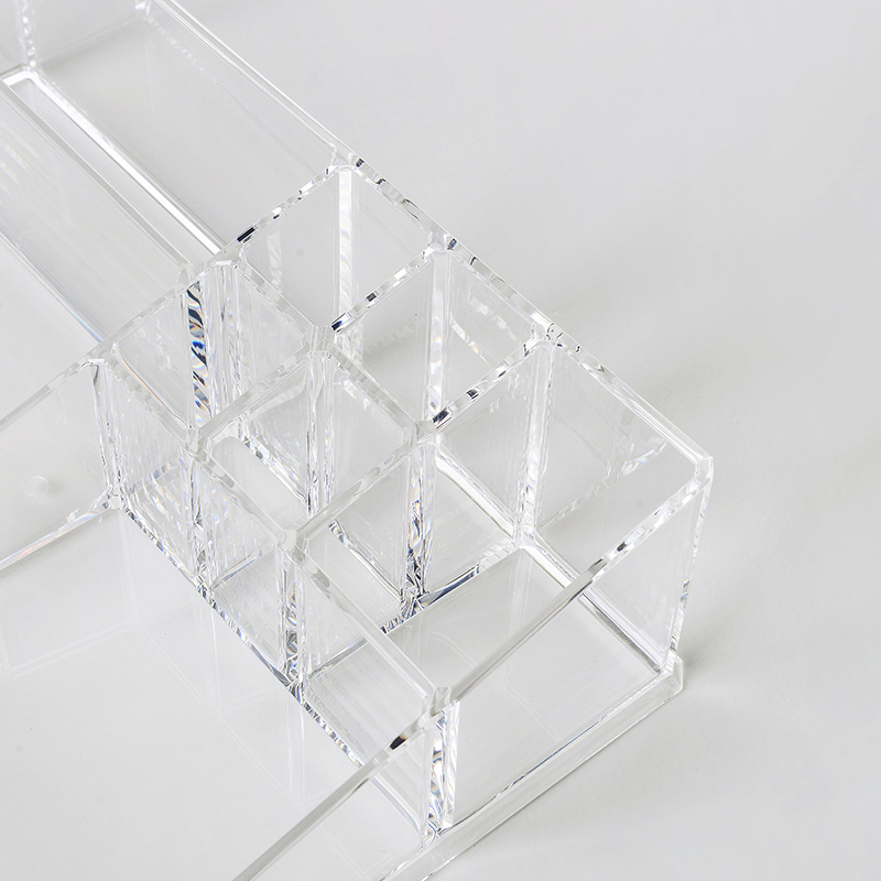 奇居良品 创意卧室梳妆台收纳 宝尔9格首饰化妆品桌面收纳盒·透明