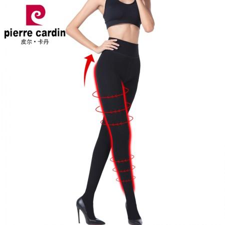 皮尔卡丹打底裤袜女加绒加厚高密超柔火山岩抗菌显瘦保暖裤·黑色连裤袜