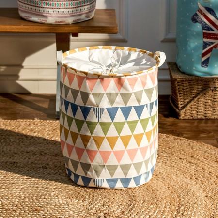 奇居良品 哈伦小清新系列布艺可折叠脏衣篓桶脏衣篮 大号·1号