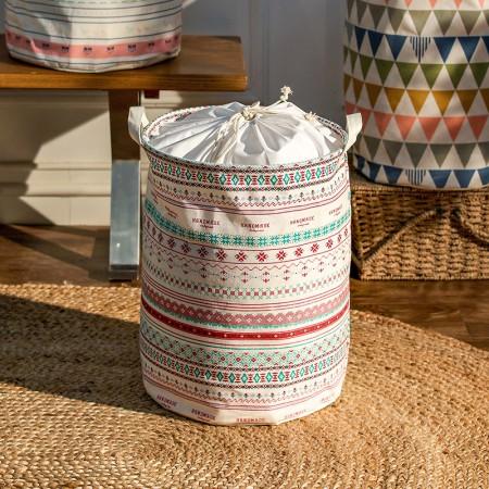 奇居良品 哈伦小清新系列布艺可折叠脏衣篓桶脏衣篮 大号·2号