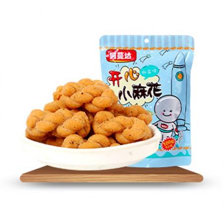 台湾进口 阿蔓达小麻花100g*4袋·椒盐味