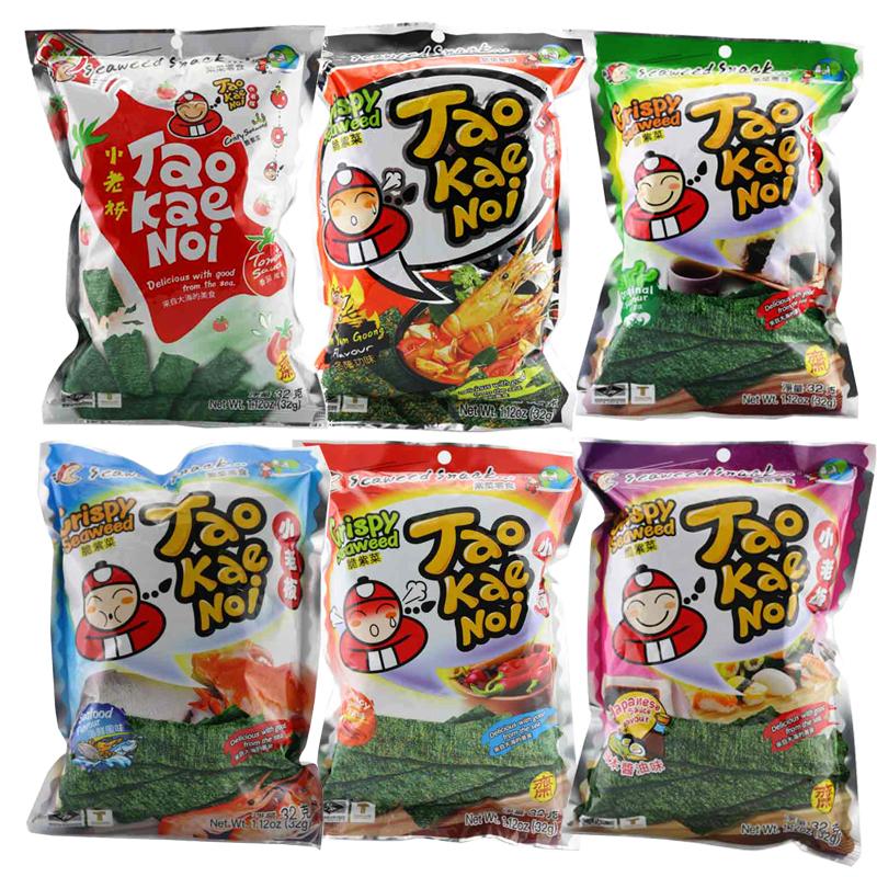 泰国进口 小老板海苔32g*6袋·番茄味