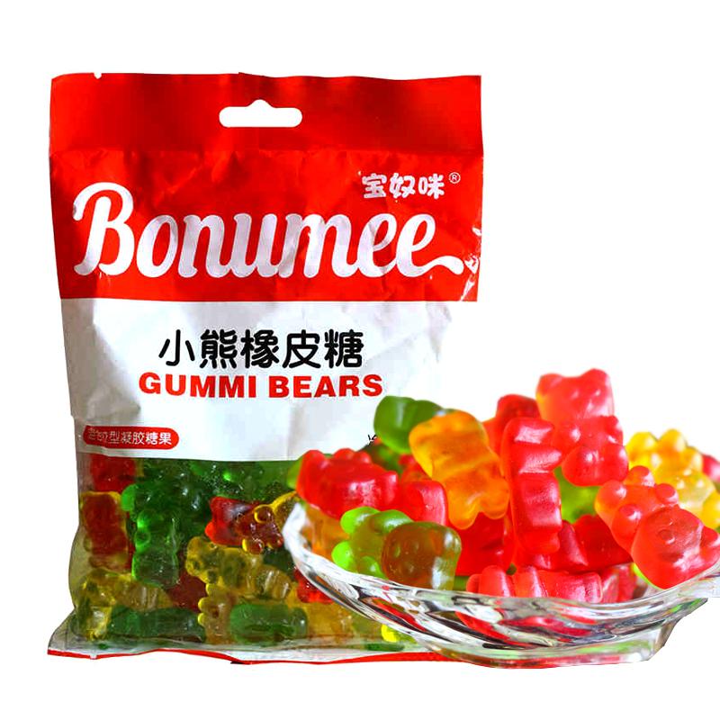 首页 美食 休闲食品 糖果/巧克力 宝奴咪 橡皮糖150g*7袋·小熊