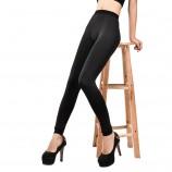 皮尔卡丹可外穿2500D无缝本色竹炭纤维加厚加绒细毛双层保暖裤·黑色