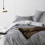 维众床上用品家纺精梳棉单人被套150*205cm-经典条纹·经典条纹蓝