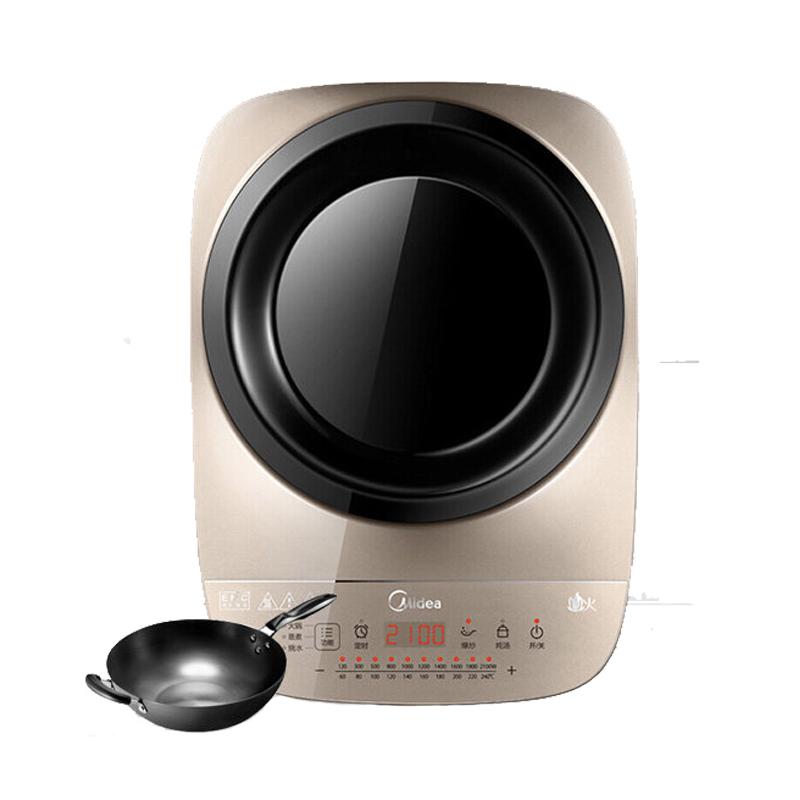 美的Midea 电磁炉凹面炒灶C21-IH2105U 赠炒锅