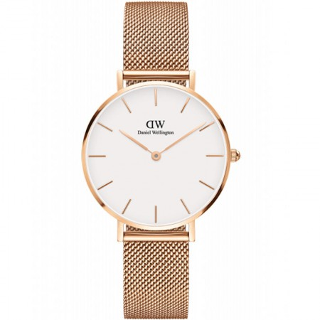 丹尼尔惠灵顿 (DanielWellington) DW女表新款32mm金色边白