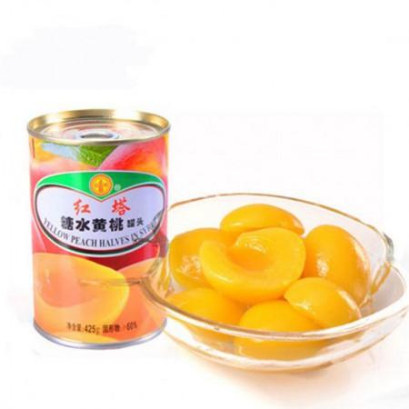红塔 糖水黄桃罐头·425g*5罐