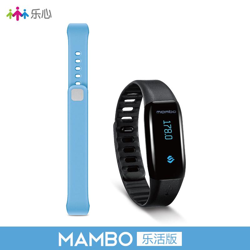 乐心运动手环智能手表深防水蓝牙安卓苹果ios智能手环mambo乐活版·黑色+蓝色