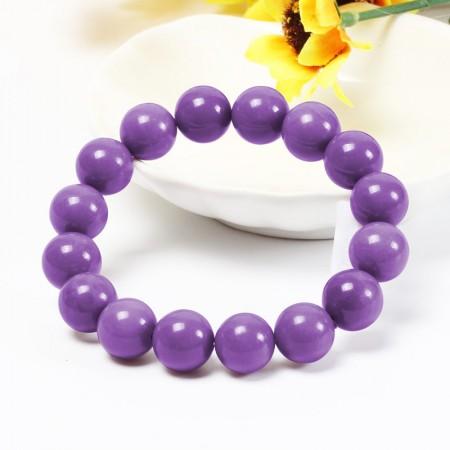 千色密码高贵迷人紫云母手链