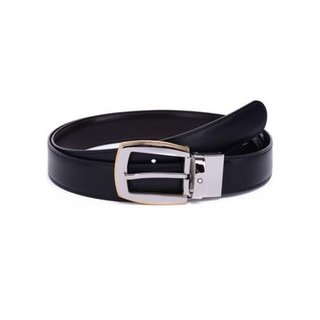 Montblanc(万宝龙)男士经典系列可旋转针扣皮带/腰带120厘米111081黑色·黑色