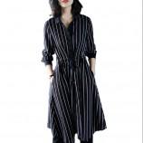 SSYAOGE 时尚翻领显瘦A字衬衫连衣裙1302·黑色